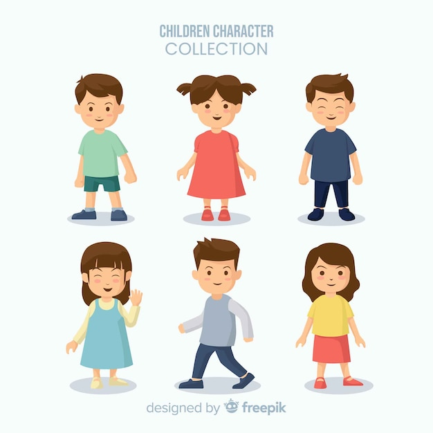 Chldren's day figures collection Free Vector