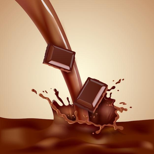 Choco milk illustration Free Vector