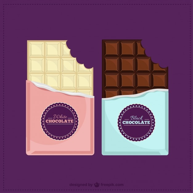 Chocolate bars Premium Vector