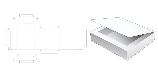 Chocolate box die cut template Premium Vector