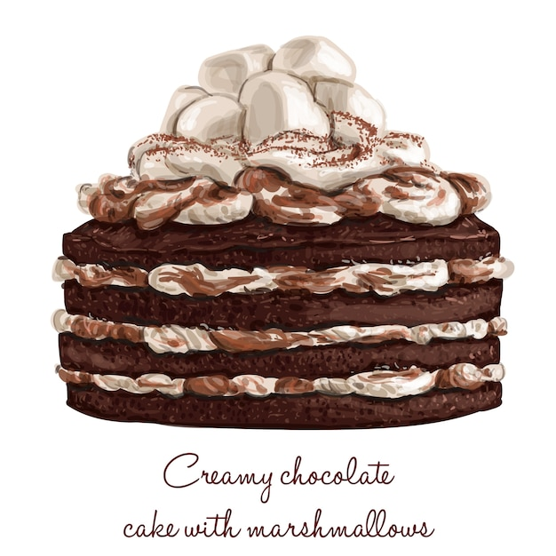 Chocolate cake Vector Free Download