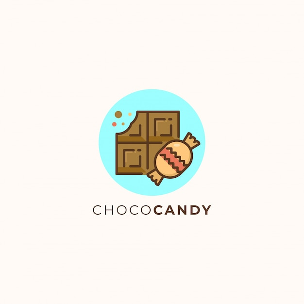 Chocolate and candy Premium Vector