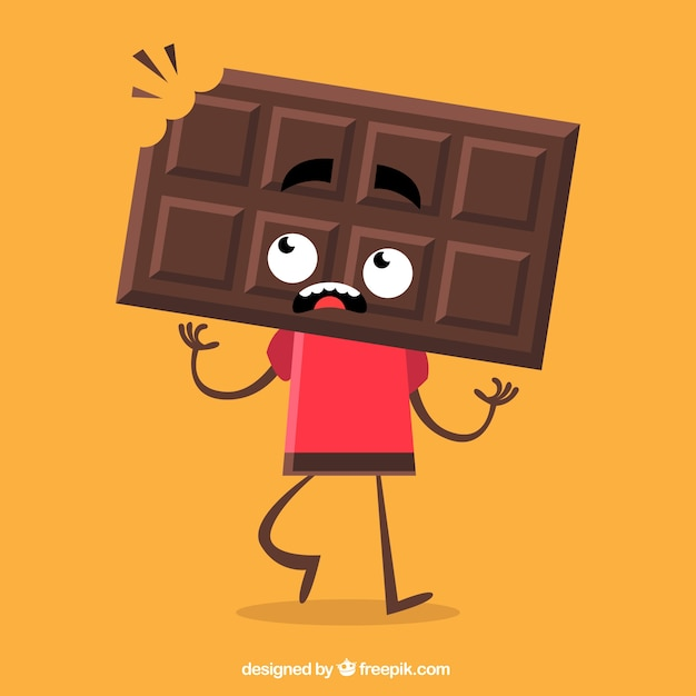 Chocolate character Free Vector
