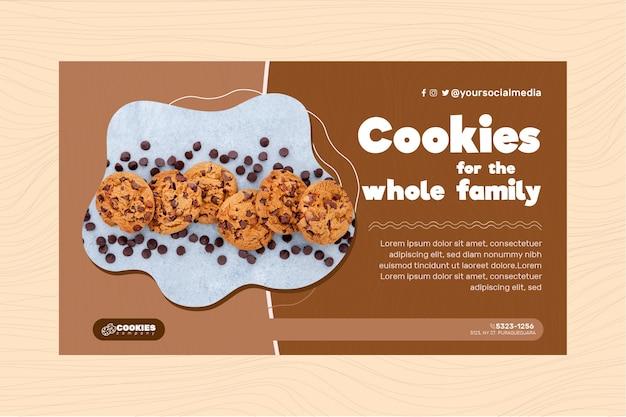 Шаблон баннера шоколадное печенье Бесплатные векторы