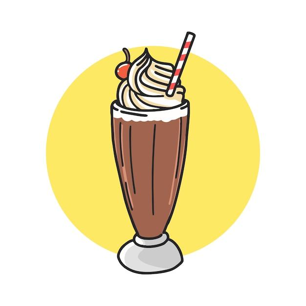 Chocolate float cartoon Premium Vector
