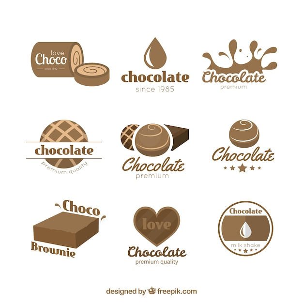 chocolate logos vector free download