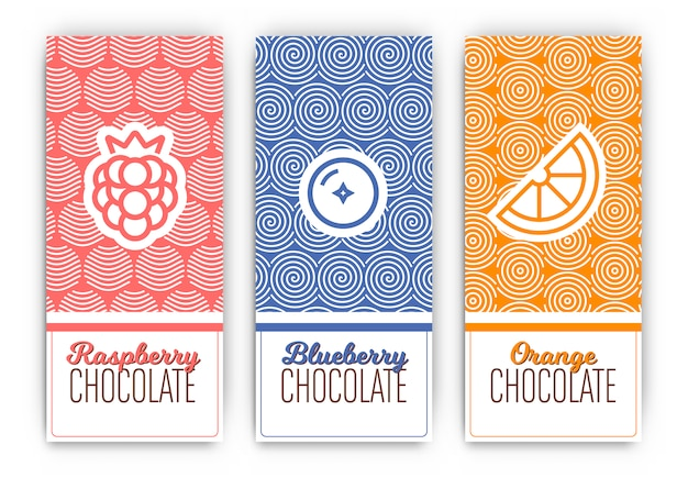Chocolate packaging design Free Vector