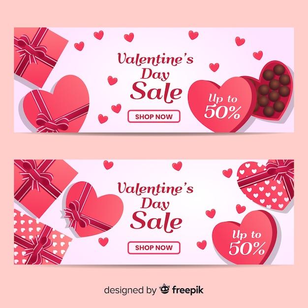 Free Vector Chocolate Valentine Sale Banner