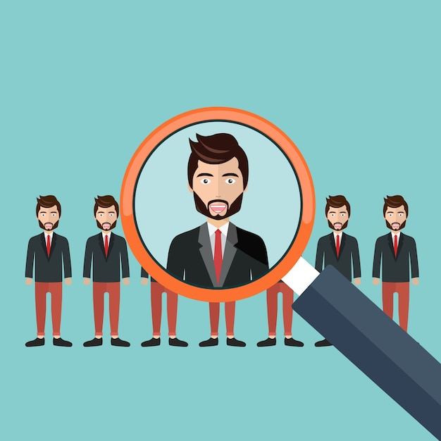 Choosing a candidate for the job Free Vector