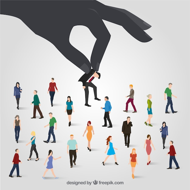 Choosing the right person concept Free Vector
