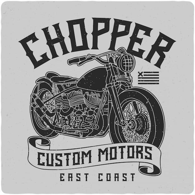 Чоппер мотоцикл Premium векторы