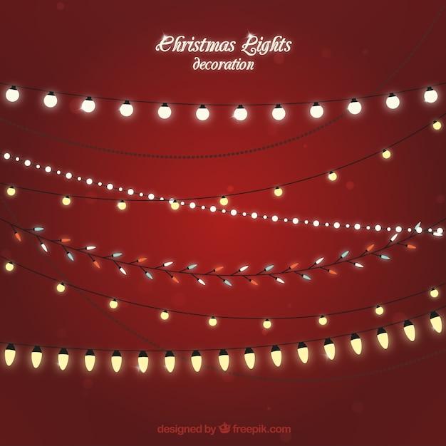 Рождественских фары декорации Premium векторы