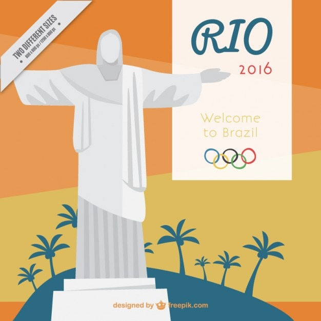 Christ the redemmer rio 2016 background