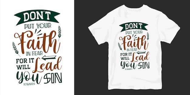 Христианские и религиозные цитаты типографии футболки дизайн плаката. Premium векторы
