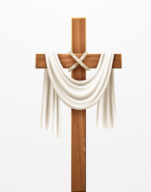 クリスチャンクロス。パームサンデー、イースター、そしてキリストの復活おめでとうございます。ベクターイラストeps10 無料ベクター