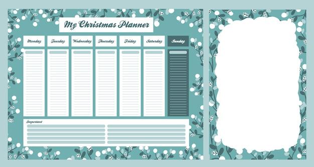 Рождество 2021 календарь праздник праздник дизайн коллекция набор стикеров Premium векторы