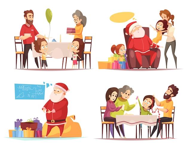 Christmas 2x2  concept Free Vector