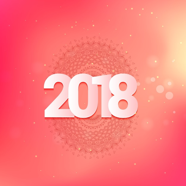 Christmas and happy new year 2018 greeting card design in pink color christmas and happy new year 2018 greeting card design in pink color premium vector m4hsunfo