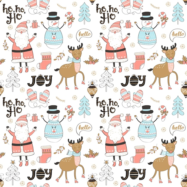 Christmas and new year elements. Premium Vector