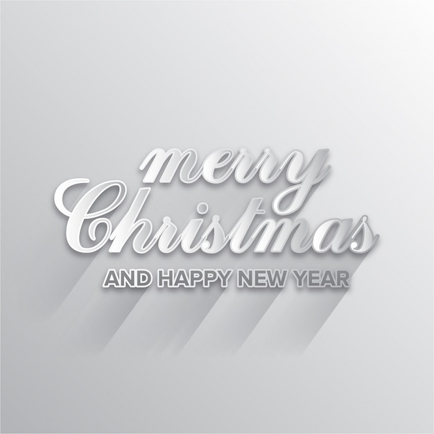 Christmas and New Year greeting card Vector | Free Download
