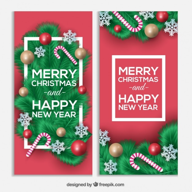 Christmas and new year greetings with candy canes vector free download christmas and new year greetings with candy canes free vector m4hsunfo