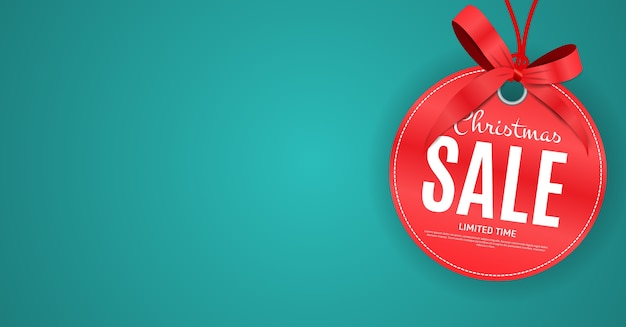 クリスマスと新年のセールギフト券、割引クーポンテンプレート Premiumベクター