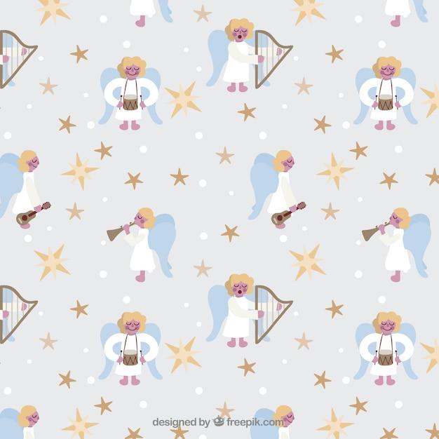 Christmas Angel Pattern Vector Free Download Stunning Angel Pattern