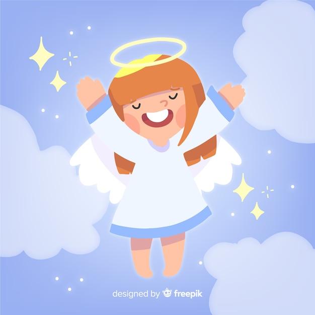 Рождественский ангел Бесплатные векторы