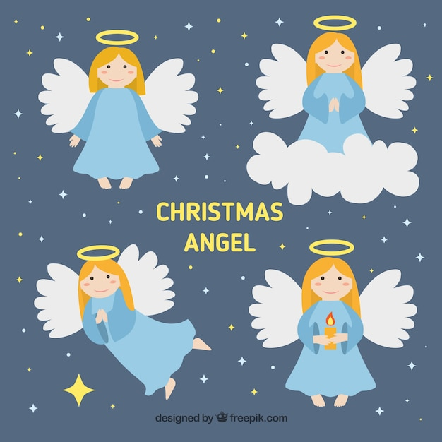 Christmas Angels.Christmas Angels Characters Vector Free Download