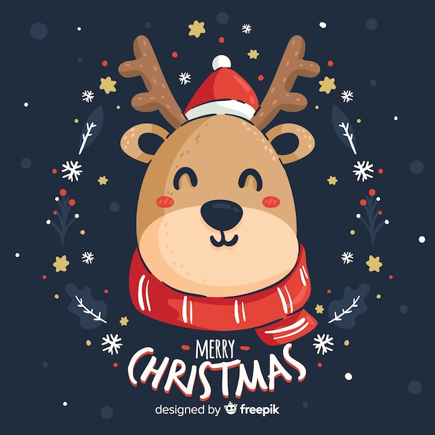 Christmas animals Free Vector