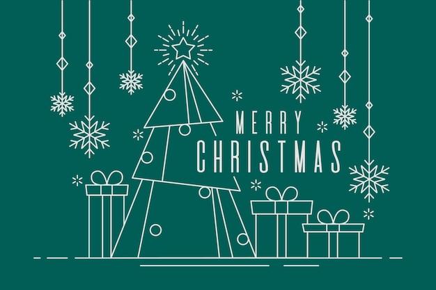 Рождественская концепция фон в стиле структуры Premium векторы