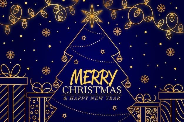 Рождественская концепция фон в стиле структуры Бесплатные векторы