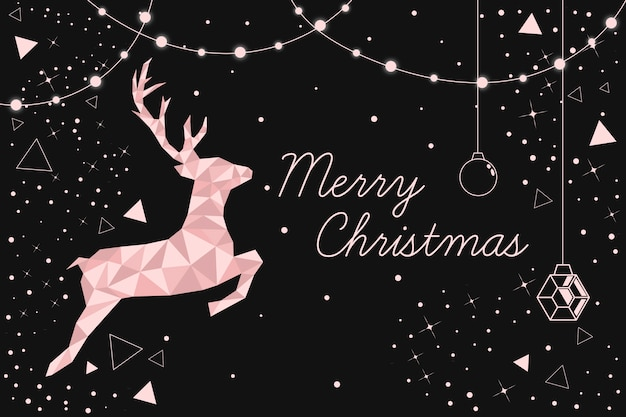 Christmas background concept in polygonal style Free Vector