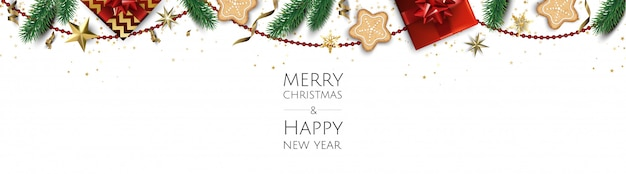 Christmas Background Creative Design Greeting Card Banner