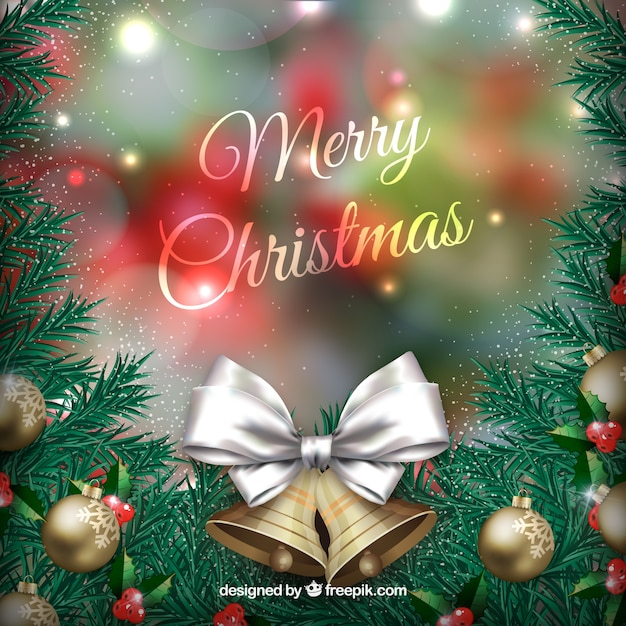 Christmas Background for Your Design Free Vector