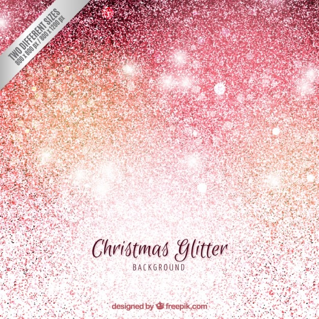 Christmas background in glitter style Free Vector