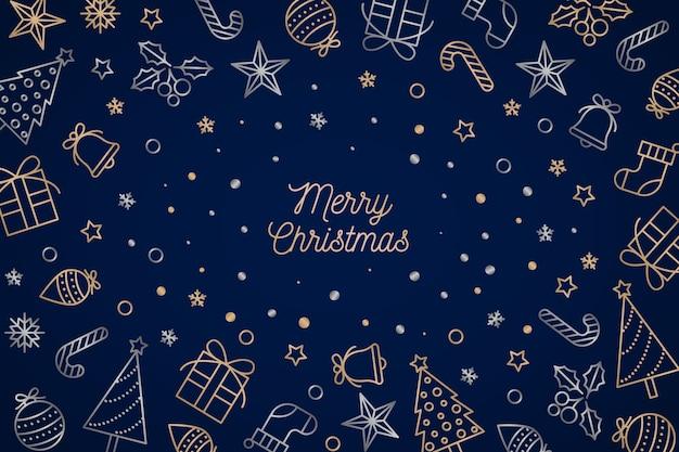Рождественский фон в стиле структуры Бесплатные векторы