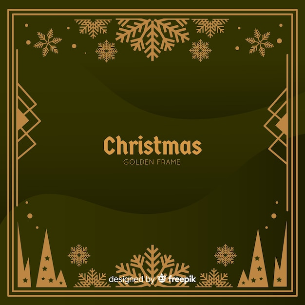 Christmas background in realistic design Free Vector