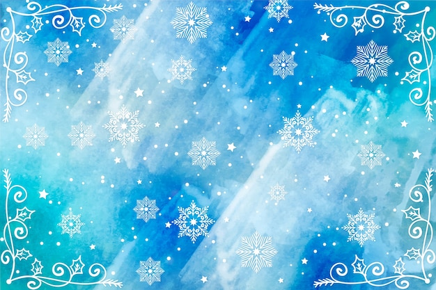 Christmas background in watercolor Free Vector