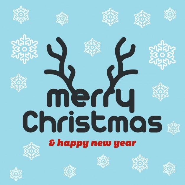 Christmas background with a beautiful typography Free Vector