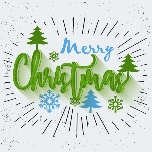 Christmas background with blue and green details Premium Vector