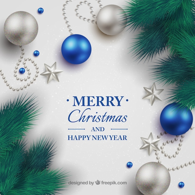 Christmas background with decorative\ balls