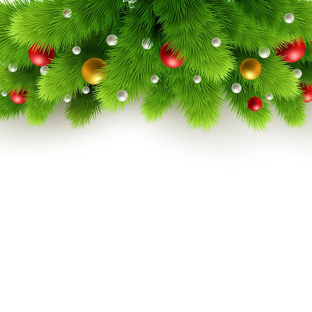 Christmas background with fir tree Premium Vector