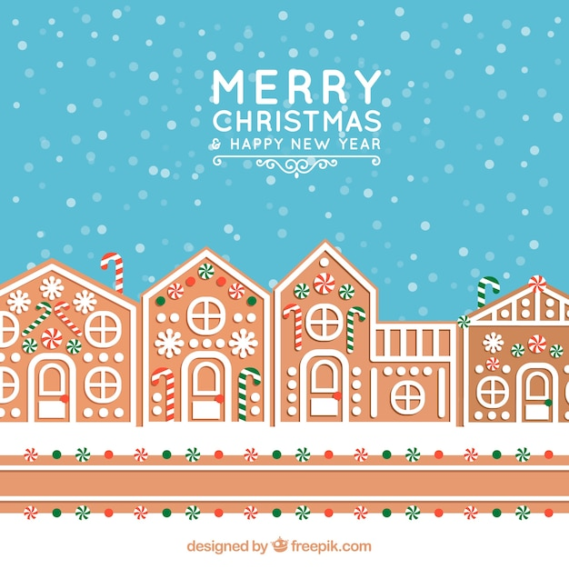 Christmas Gingerbread House Background.Christmas Background With A Gingerbread House Vector Free