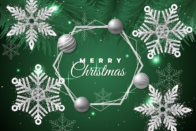 Christmas background with glitter effect Free Vector