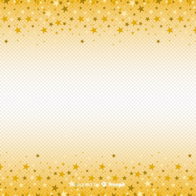 Christmas background with golden stars Free Vector
