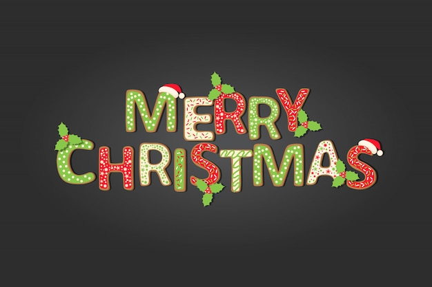 Christmas background with greeting quote Premium Vector