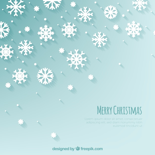 Christmas background with lovely snow\ flakes