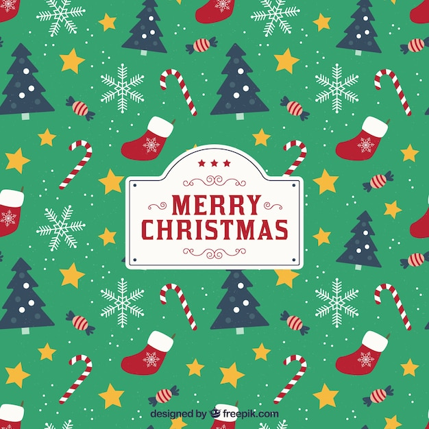 christmas-background-with-pattern-style_