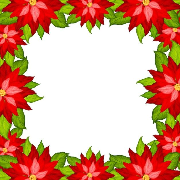 포 인 세 티아 프레임 벡터와 크리스마스 배경 프리미엄 벡터